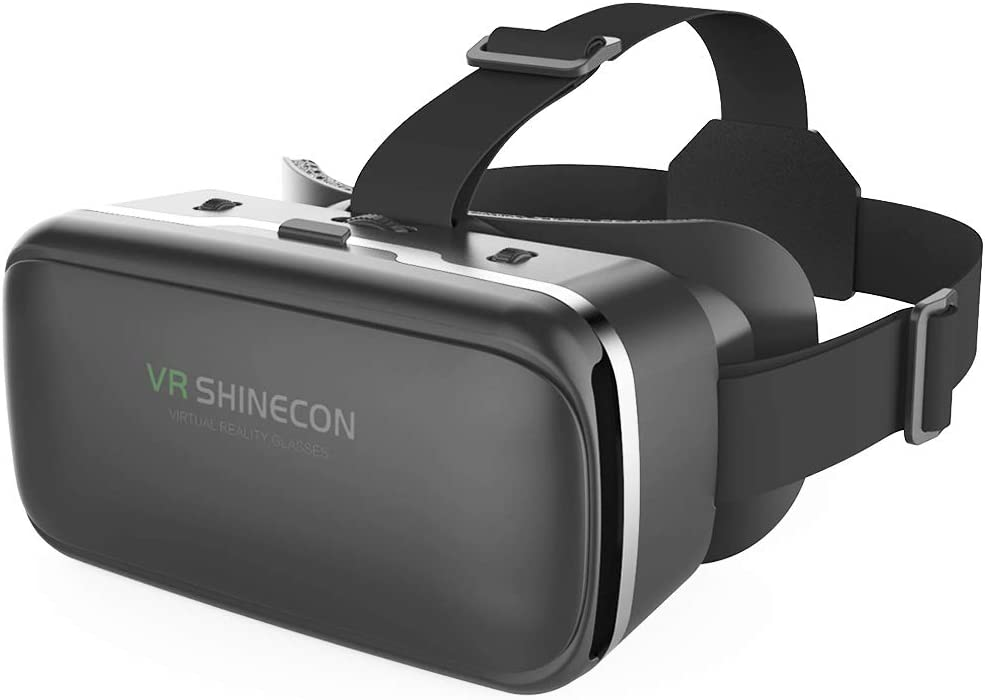 VR SHINECON 3D VR Headset Virtual Reality Glasses - 3d Vr Goggles Headsets for Video Movies&Games Compatible with iPhone and Android