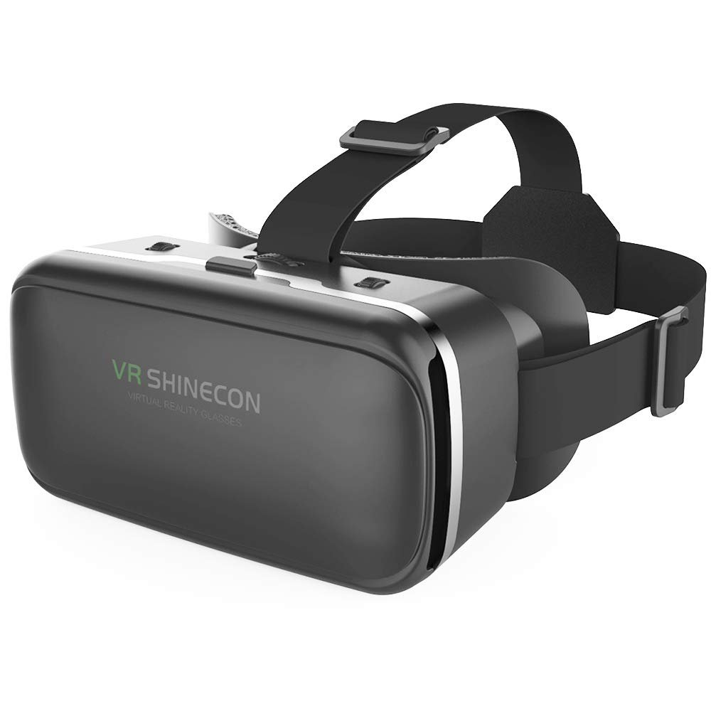 VR SHINECON 3D VR Headset Virtual Reality Glasses – 3d Vr Goggles Headsets for Video Movies&Games Compatible with iPhone…