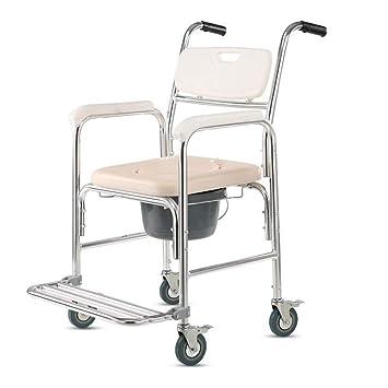 Silla De Ruedas De Aluminio Peso Ligero, Andador Móvil Y Asiento De Descanso para El