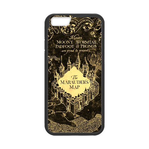 Fayruz- Personalized Protective Hard Textured Rubber Coated Cell Phone Case Cover Compatible with iPhone 6 & iPhone 6S - Harry Potter Hogwarts F-i5G843