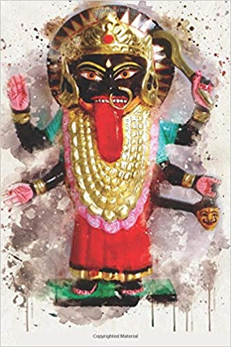 Watercolor Mahakali: Blank Lined Notebook, Journal or Diary