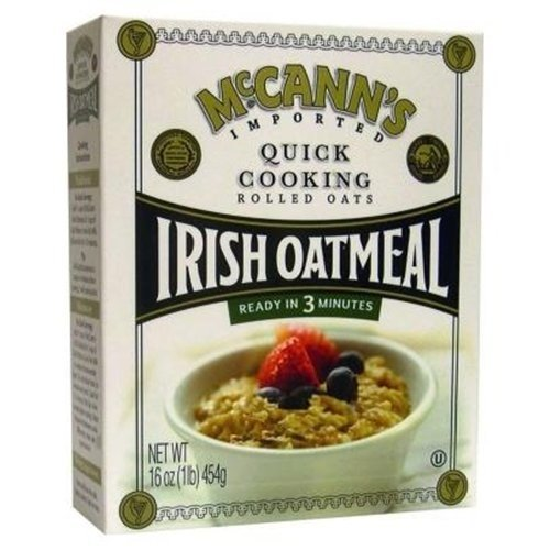 Mccanns Irish Quick Oatmeal Box, 16 Oz, Pack Of 12 (Rolled Steamed Oats)