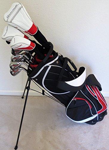 Mens Taylor Made Superlative Golf Set Driver, Fairway Wood, Hybrid, Irons, Putter Clubs Stand Bag Stiff Flex TaylorMade