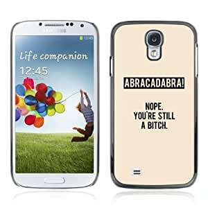 Designer Depo Hard Protection Case for Samsung Galaxy S4 / Abracadabra Message LOL WTF wangjiang maoyi