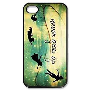 Customized iPhone Case Peter Pan Never Grow Up Printed Durable Hard iPhone 4 4S Case Cover