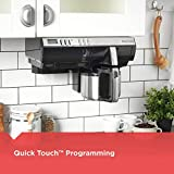 BLACK+DECKER SCM2000BD SpaceMaker Under The Cabinet 8-Cup Programmable Coffeemaker with Thermal Carafe, Stainless Steel/Black