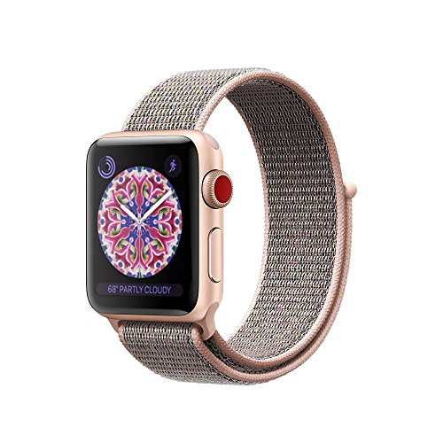 For Apple Watch Band,Soft Breathable Woven Nylon Replacement Sport Loop Band for Apple Watch Series 3/2/1