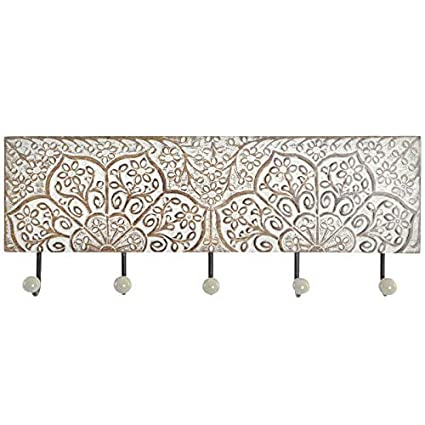 D,casa - Perchero de Pared Mango Metal 5 colgadores: Amazon ...