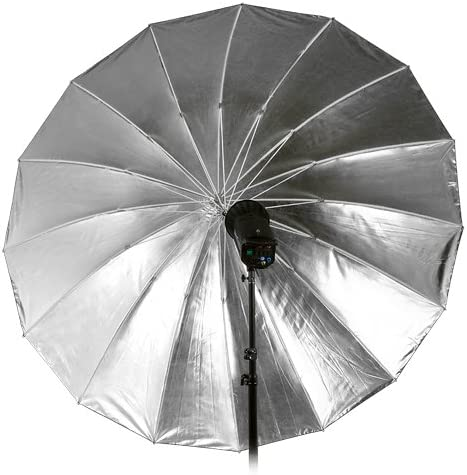 Fotodiox Pro 16-Rib 72 Black and Silver Reflective Parabolic Umbrella