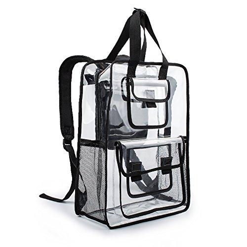 Estarer Clear Backpack Travel Beach Work Security Students Bag Transparent Schoolbag Satchel School Bookbag