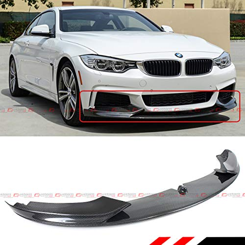 - Performance Style Real Carbon Fiber Front Bumper Lip Spoiler Splitter Fits for 2014-2019 BMW F32/F36/F33 4 Series With M Sport Bumper