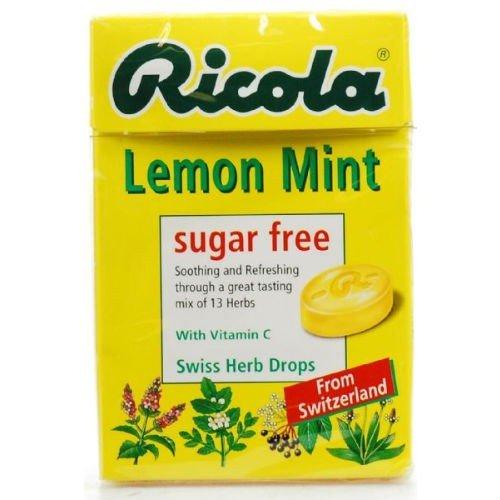Sugar Free Lemon Mint Ricola Original Herb Candy X 4 Pack