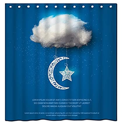Amazon Saxon Case Bright Moon 13 Shower Curtain Custom