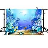 MME 10x7Ft Finding Nemo Photography Background Ocean Fish Backdrop Aquarium Photo Video Studio Props LXME438