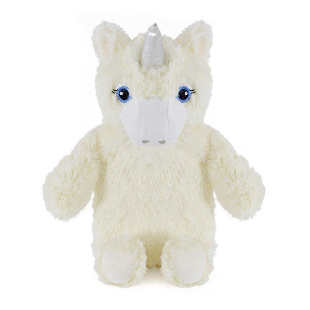 Bolsa de agua caliente con funda de peluche con forma de unicornio, de goma natural, que ayuda a proporcionar calor y comodidad, 1 litro Cream Unicorn China