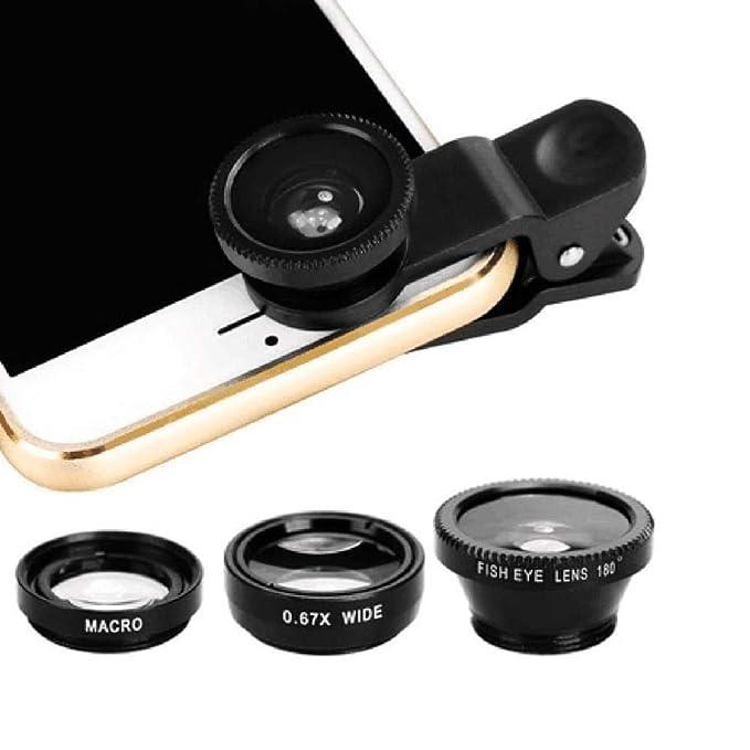 3-in-1 Wide Angle Macro Fisheye Lens Camera Kits Mobile Phone Fish ...