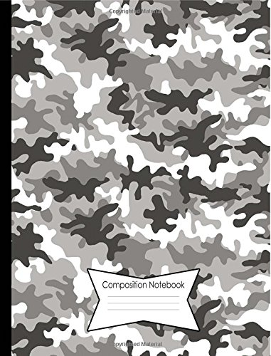 Composition Notebook 140 College Ruled Lined Pages Book (7.44 x 9.69): Gray Camo Camouflage Cover Design pdf