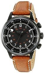 Bulova Accu Swiss Men's 65A106 Mechanical Hand Wind Brown Strap Watch