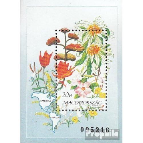 Hongrie Block214A (complète.Edition.) 1991 Fleurs (Timbres pour les collectionneurs)