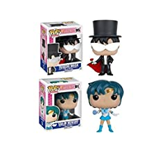 Funko POP! Sailor Moon: Sailor Mercury & Tuxedo Mask - Vinyl Figure Set NEW