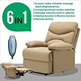 Massage Recliner Sofa Chair Microfiber Ergonomic Lounge Heated...