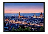 Florence Italy Black Wooden Frame Art Print Canvas Poster, Home Wall Decor(16x24x1.4 inch)