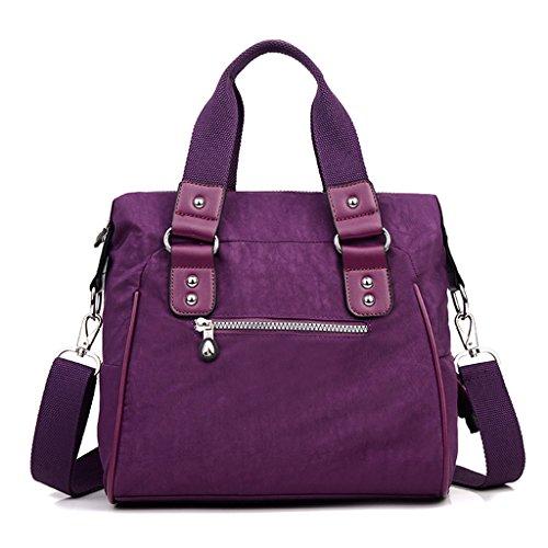 Hombro Púrpura Resistente Doble Niñas Agua Nailon Bolsa Las Tianhengyi Superior Mujer Asa De Bolso Crossbody La Al qCcwaYZ