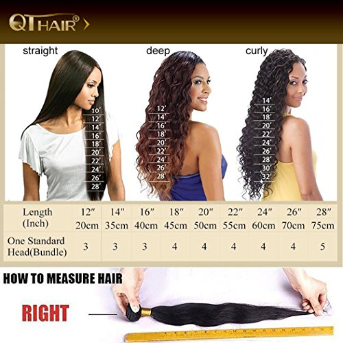QTHAIR 10A Brazilian Virgin Body Wave 3 bundles 20'' 22'' 24'' Natural Color Unprocessed Brazilian Virgin Hair Body Wave Hair Weave Remy Wavy Wholesale Hair by QTHAIR (Image #8)
