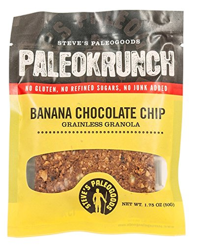 Steve's PaleoGoods, Paleokrunch Banana Chocolate Chip, 2 oz (Pack of 12)