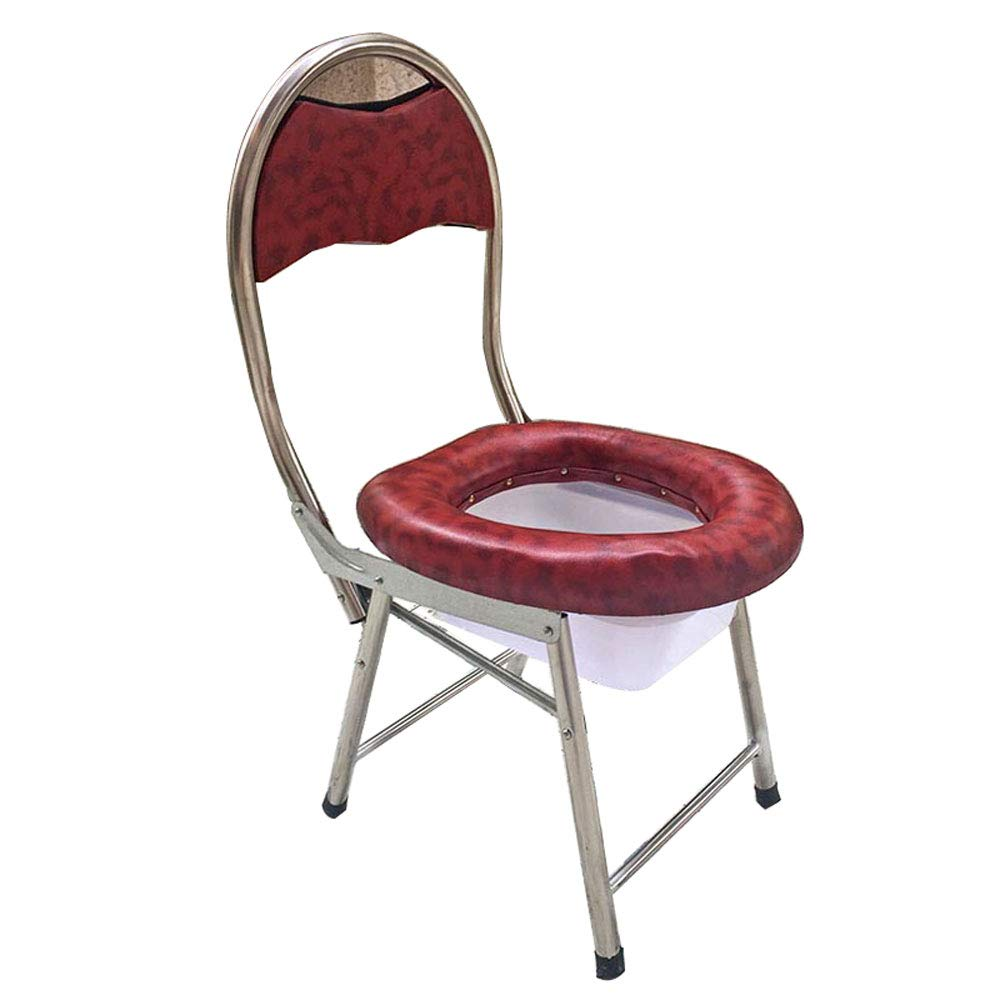 Mrtie Klappbarer Toilettenstuhl Aus Weichem Edelstahl, Schwangere Frauen, Ältere  Herrenchen, Patienten, Kinderwindelstuhl