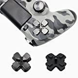 Full Aluminum Metal Buttons for PS4 Controller, YTTL Custom Metal Thumbsticks Analog Grip + Metal ABXY + D-pad + Metal L1 R1 L2 R2 Trigger Buttons for Playstation 4 DualShock 4 PS4 Controller - Grey