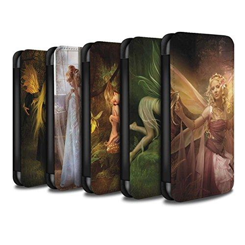 Officiel Elena Dudina Coque/Etui/Housse Cuir PU Case/Cover pour Apple iPhone SE / Pack 10pcs Design / Fées Élégantes Collection