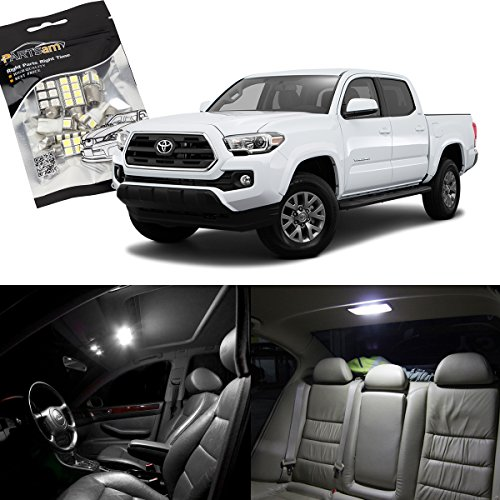 partsam-toyota-tacoma-white-interior-led-package-kit-license-plate-light