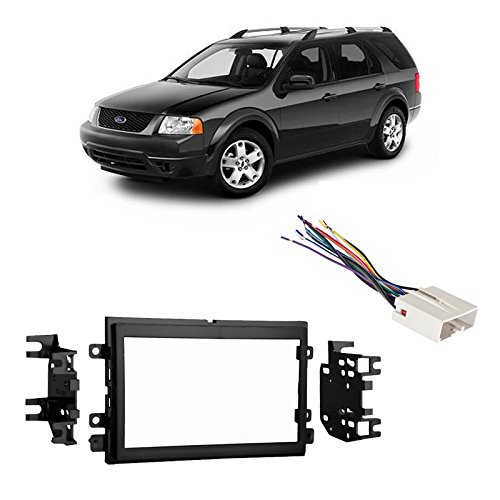 Fits Ford Freestyle 2005-2007 Double DIN Harness Radio Install Dash Kit