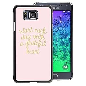 A-type Arte & diseño plástico duro Fundas Cover Cubre Hard Case Cover para Samsung ALPHA G850 (Gold Pink Text Heart Motivational Text)
