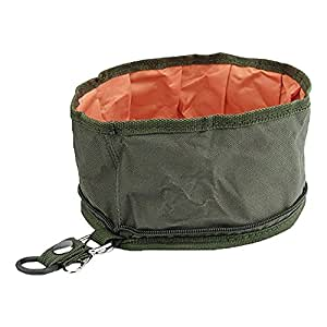 Leegoal Folding Collapsible Travel Pets Dogs Cats Food Water Bowl,Atrovirens