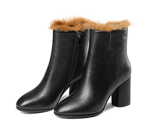 Boots Damen Stiefel & Stiefeletten Schwarz Schwarz Länge 22,3 cm (8,8Inch)