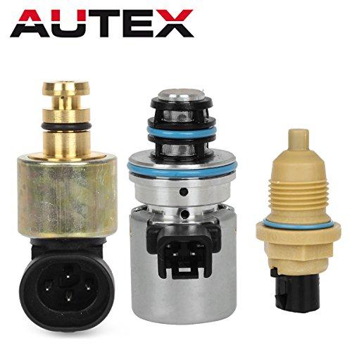 AUTEX 44RE 46RE 47RE Transmission EPC Solenoid Governer Pressure Sensor Output Speed Sensor Kits Compatible With Chrysler & Dodge & Jeep 1996 1997 1998 1999