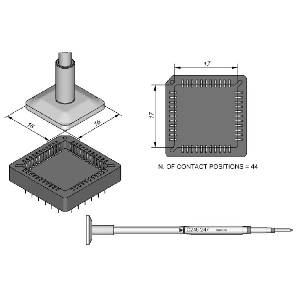 Jbc C245247 SMD - Punta de desoldar para T245 WL20751