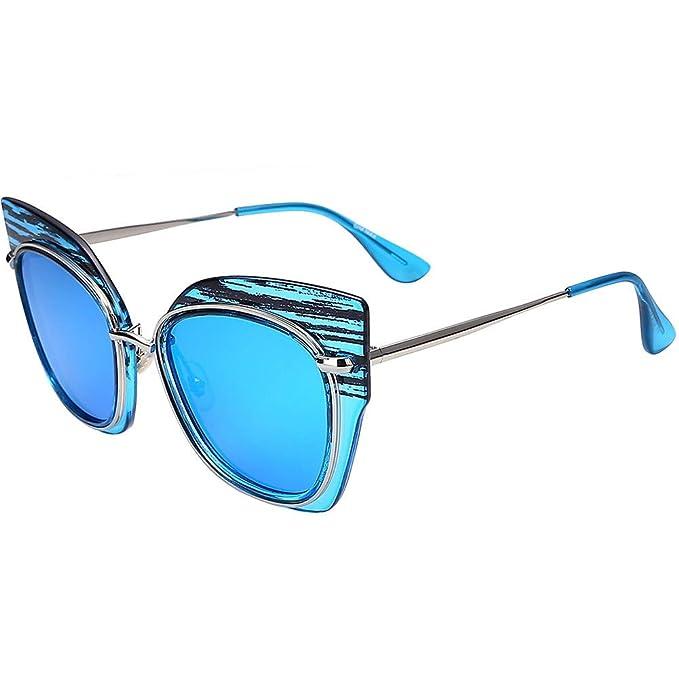 NIFG Gafas de sol azules y americanas de la personalidad de ...