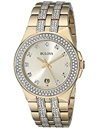 Bulova 98B174 Men's Quartz Watch with Champagne Dial and Two-Tone Stainless Steel Strap