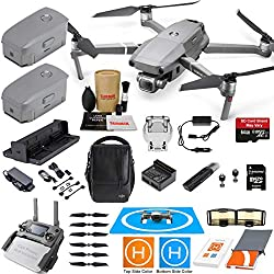 DJI Mavic 2 Pro Drone Quadcopter Fly More Kit Combo 3 Batteries, Hasselblad Camera Gimbal Bundle