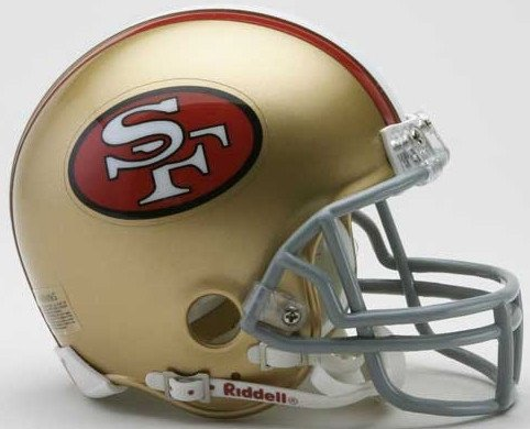 Riddell NFL San Francisco 49ers 1964-1995 Throwback Replica Vsr4 Mini Football Helmet