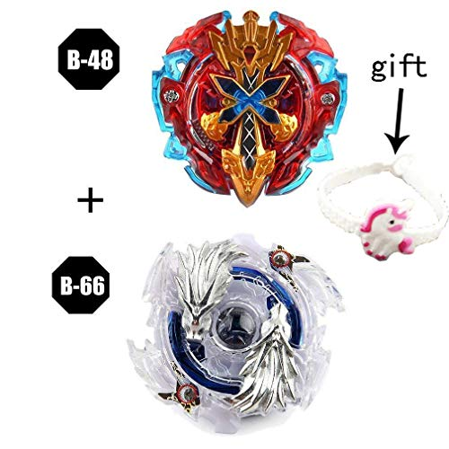 Beyblade burst B-48 Xeno Xcalibur and B-66 Lost Longinus.N.Sp with Launcher SLegend Spriggan Mr blades with launcher stater set high performance battle top