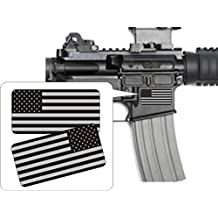 2x AR15 Lower American Flags Black Ops Vinyl Decals | Stealth Flag Stickers AR-15 5.56 .223 MAG Helmets Hard Hats Toolbox Motorcycle