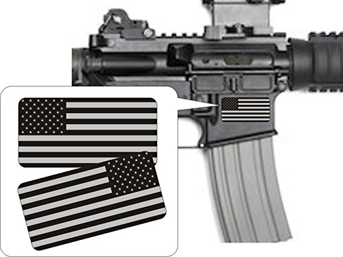 264029338dd Pair - American Flags Black Ops Stealthy Vinyl Decals