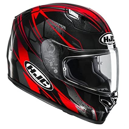 Amazon.es: HJC Fg-17 Toba MC1 casco para Moto, Color Negro/Rojo ...