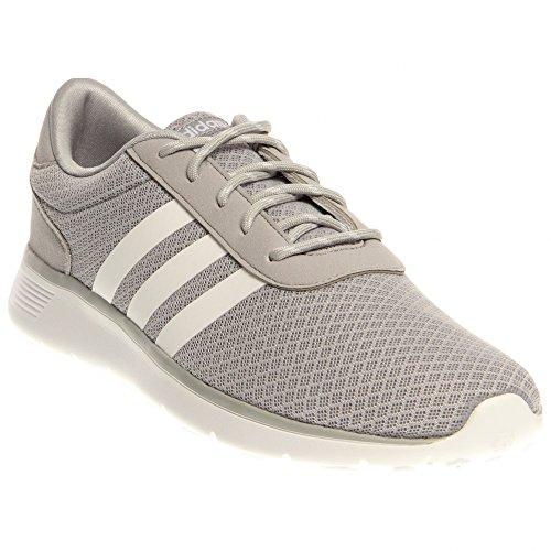 Adidas NEO Women's Lite Racer Running Shoe,Clear Onix/Running White/Running White,9 M US