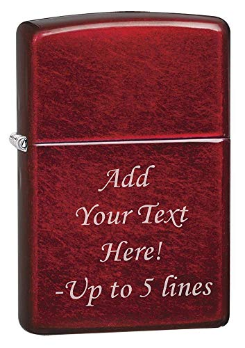 (Zippo Candy Apple Red Custom Personalized Message Engraving Windproof Lighter )