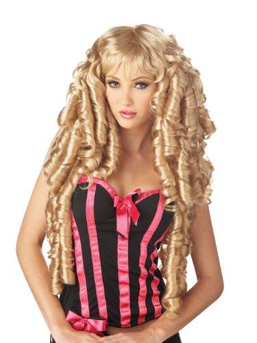 Long Blonde Wig Curly Ringlet Wig Storybook Fairytale Princess Costume - Blonde Storybook Wig